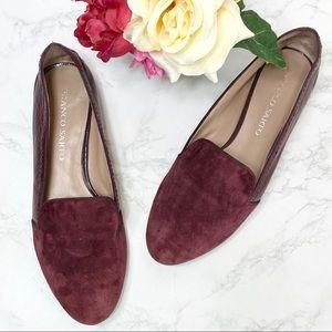 Franco Sarto Zahara Burgundy Suede Leather Loafers